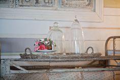 empty cloches in farmhouse www.cedarhillfarmhouse.com #cloche #farmhouse
