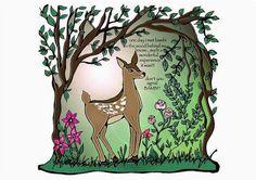 #illustration #deer #colors #fairytales