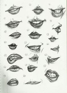 Delineate Your Lips - Ctrl Paint- Draw Lips by on deviantART - How to draw lips correctly? The first thing to keep in mind is the shape of your lips: if they are thin or thick and if you have the M (or heart) pronounced or barely suggested. Drawing Techniques, Drawing Tips, Drawing Sketches, Painting & Drawing, Drawing Ideas, Mouth Painting, Lips Painting, Drawing Lessons, Tattoo Sketches