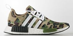 BAPE X ADIDAS NMD Olive release 26.10.2016