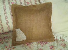 Pillow back, burlap