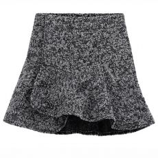 Design High Waist Tweed Pure Color Winter Skirts