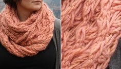 Spin-a-round neckwarmer - free knitting pattern (WW & Silk Mohair) Knit Cowl, Knitted Shawls, Crochet Cross, Knit Crochet, Knitting Patterns, Cowl Patterns, Circle Scarf, Knit Picks, Knitting Accessories