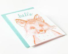 Sycamore Street Press - Hello Card (Kingdom Animalia: Fox) - All