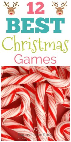 12 BEST Christmas Games - Happy Home Fairy Can anyone believe that Christmas is ALMOST HERE? I am amazed. And also panicking because have I finished Christmas shopping? Christmas Party Games For Groups, Party Games Group, Christmas Party Games For Kids, Xmas Games, Holiday Games, Kids Party Games, Christmas Fun, Christmas Family Games, Games For Christmas Party