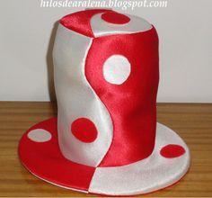 Hilos de Aralena  Hacer Sombreros para cotillón tipo galera Sombreros De  Goma Espuma 422c45682c5