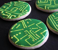 Cool Robot party cookies