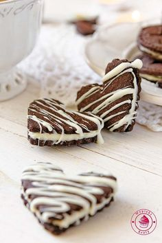 Cake Cookies, Cupcakes, Polish Recipes, Biscuits, Valentines Day, Deserts, Food And Drink, Yummy Food, Oreo