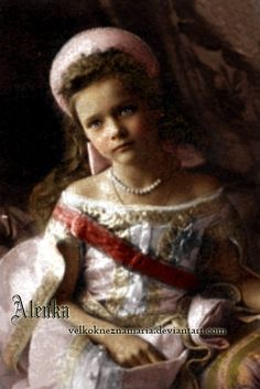 Tatiana (7 years old) in 1904 for her brother's christening -by VelkokneznaMaria.deviantart.com on @deviantART