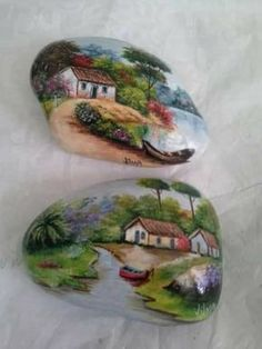 Pin by Sharon Kerns on Art on Rocks and such Seashell Painting, Pebble Painting, Pebble Art, Stone Painting, Rock Painting Patterns, Rock Painting Ideas Easy, Rock Painting Designs, Stone Crafts, Rock Crafts