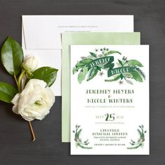 Painted Tropics Wedding Invitations by Very Sarie | Elli