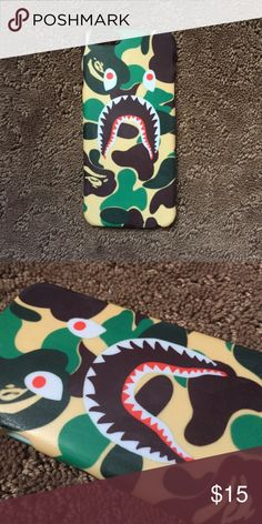 Bape Shark Case for any iPhone!! Brand New in the packaging ! High Quality dope printed iPhone case !3D printed design all around the case.   Price is firm unless looking for bundle deals. Then message me!   Same or next day shipping with USPS Tracking provided!   ***Message me or comment before purchase of the phone size you have, or else I will send the size in the title***  ALL CASES AVAILABLE FOR IPHONE 6/6S , 6 Plus / 6S Plus, iPhone 7, and iPhone 7 Plus!   Much more dope designs in our…