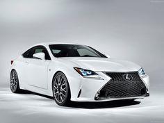 White Lexus RC F