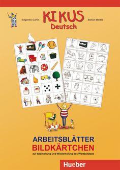 Hueber KIKUS Deutsch / Arbeitsblätter Bildkärtchen. 9,99 € German, Language, Teaching, Montessori, Kindergarten, Products, Learn German, School Forms, Picture Cards