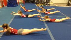 The girls at Gymnastics Gym Club in Calgary, Canada changed up their normal ab workout by setting it to Bruno Mars' hit song 'Uptown Funk.'