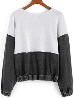 Color-block Round Neck Sweatshirt 21.00