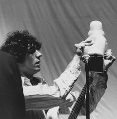 Syd Barrett preparing for the legendary 'Games For May' concert at the Queen Elizabeth Hall in London, 12th May 1967