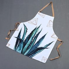 Cactus leaf plant pattern apron kitchen cooking set home accessories – Mia & Stitch Wall Clock Accessories, Home Accessories, Cactus Leaves, Vinyl Record Clock, Linen Placemats, Christmas Deals, Christmas Gifts, Plant Box, Plate Display