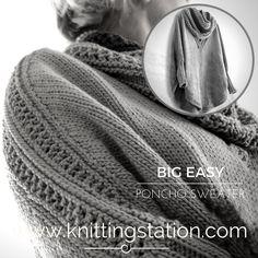Knitting Pattern Circular Needles, Garter Stitch, Needles Sizes, Free Pattern, Knitting Patterns, Easy, Ponchos, Knit Patterns, Sewing Patterns Free