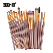 15Pcs Makeup Brush Professional Women Foundation Eyeshadow Eyeliner Lip Brand Make Up Cosmetic Pincel Maquiagem Eye Brushes Set //Price: $US $3.10 & FREE Shipping //     #fashion