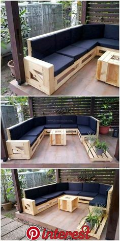 How to use wooden pallets for the fantastic look of your home - . Diy palettenmöbel - DIY palette creations, How to use wooden pallets for the fantastic look of your home Ellise M. Diy palettenmöbel Whilst historic in idea, the pa. Pallet Garden Furniture, Diy Furniture Couch, Diy Outdoor Furniture, Furniture Projects, Furniture Design, Wooden Furniture, Cheap Furniture, Palette Furniture, Furniture Dolly