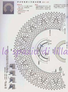 lo spazio di lilla: Candidi colletti all'uncinetto con schemi / Crochet collars, free patterns