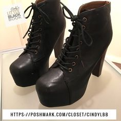"""Lita Lookalike Booties  Got these bad boys online at Lola Shoetique & worn twice for two parties .  They have a small white scuff (see photos) Heel Length 5"""". US Size 8.5 Lola Shoetique Shoes Ankle Boots & Booties"""