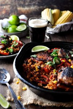 Chicken Recipes One Pot Mexican Chicken Rice - a flavour explosion in one bowl! Crispy chicken with Fajita seasoning & Mexican spiced rice, made from scratch. Yummy Recipes, Mexican Food Recipes, Dinner Recipes, Cooking Recipes, Healthy Recipes, Ethnic Recipes, Flavoured Rice Recipes, One Pot Recipes, Mexican Desserts