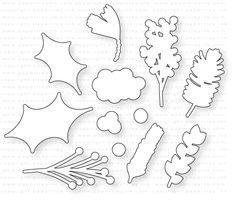 Papertrey Ink - Spruce & Sprigs Die: Papertrey Ink Clear Stamps Dies Paper Ink Kits Ribbon