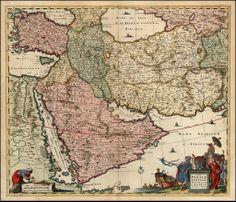Nova Persiae Armeniae Natoliae et Arabiae [shows Cyprus]Armenia on antique maps