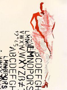 Autora: Victoria Fontana Tinta sobre papel. 50x35 cm Realizado en el Estudio Arjona Madrid