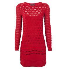 Vestido tricô 284 nervuras - vermelho