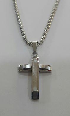 Σταυρός μαζί με αλυσίδα από ατσάλι