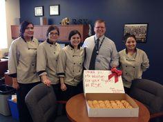 Culinary Students @KellisHS say Thank you to Jeff Wooten, @RodelAZ principal finalist @PeoriaUnified11, @WestMEC. 4 dozen cookies per year.