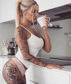 SEXY TATTOOED BABES OF INSTAGRAM - March 29 2018 at 12:40AM : #Fitspiration and Sexy #Fitspo Babes - FitFam and #BeastMode Girls - Health and Exercise - Exotic Bikini and Beach Bodies - Beautiful and Strong Crossfit Athletes - Famous #Fitness Models on Instagram - #Inspirational Body Goals - Gym Inspo and #Motivational Workout Pins by: CageCult