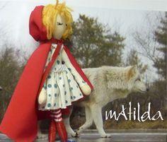 Cappuccetto Rosso e il lupo cloth doll art