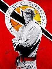 Jiu Jitsu Posters - Grand Master Helio Gracie Poster by Brian Broadway