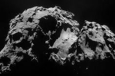 Mosaic of 4 images acquired 24 September by Rosetta's navigation camera 28.5 km from the nucleus (resolution approx. 2.5 m/pixel). Credits: ESA/Rosetta/NavCam.