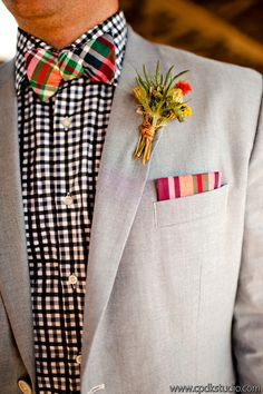 Unique groom's attire by Sean; southern weddings, vintage weddings, farm weddings