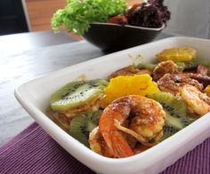 Curry Roasted Prawns with Sweet Oranges
