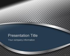 This free Powerpoint design for presentations has a nice metal texture in the PPT background and blue color with gray and perforated metal style