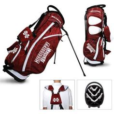 Team Golf Ncaa Mississippi State Fairway Golf Stand Bag, Red