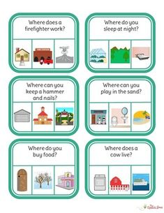 Speech Language Pathology, Speech And Language, Speech Therapy Activities, Preschool Language Activities, Preschool Songs, Play Therapy, Wh Questions, This Or That Questions, Autism Learning