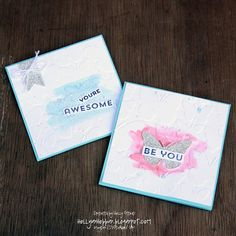 Holly's Hobbies: make these simple and quick cards using Fluttering embossing folder and Flower Patch stamp set from stampin' Up! The watercolor look gives it such a fun fresh look that will make anyone smile!