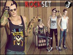 My Sims 3 Blog: Rocker Set for Males by Jocker