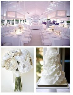 Que opinan de esta boda monocromatica en blanco?  Mas ideas en www.casarcasar.com