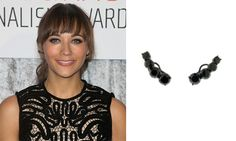 Actress Rashida Jones chose these Jack Vartanian black diamond ear climbers to go with her dress while attending the IWMF Courage in Journalism Awards, held at The Beverly Hilton Hotel on Oct. 28.