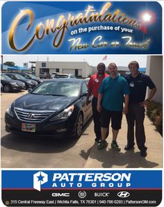 Congratulations to Mike Cody on his new 2014 Sonata SE 2.0T! - From Tyler Cameron and Andre Spearman