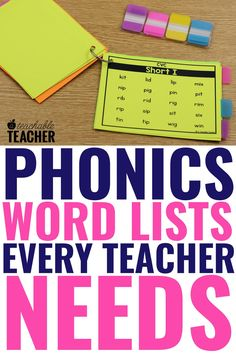 Are you looking for the Ultimate List of Phonics words? Phonics word lists make teaching and practicing phonics so much easier! Every reading teacher needs this ultimate set of phonics word lists to help make phonics instruction a breeze! Use them in your kindergarten classroom right at your fingertips! Phonics Rules, Phonics Words, Teaching Phonics, Phonics Activities, Teaching Strategies, Kindergarten Reading, Kindergarten Classroom, Teaching Reading, Phonemic Awareness Kindergarten