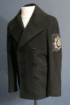 Mens designer black Overcoat by Alexander McQueen 38/40 chest, sleeve badge